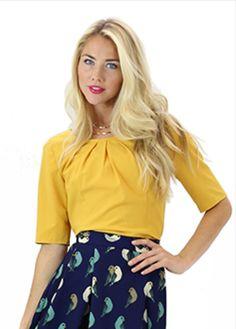 A stylish, and beautifully designed modest blouse.