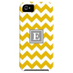 Zig Zag Monogrammed iPhone 5 Case in Yellow this was meant for me
