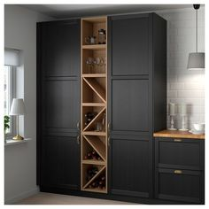VADHOLMA Range-bouteilles, brun, frêne teinté - IKEA - Expolore the best and the special ideas about Modern kitchen design Wine Shelves, Wine Storage, Tall Cabinet Storage, Wine Rack Cabinet, Wine Rack Wall, Wine Wall, Kitchen Cabinet Wine Rack, Towel Storage, Home Decor Kitchen