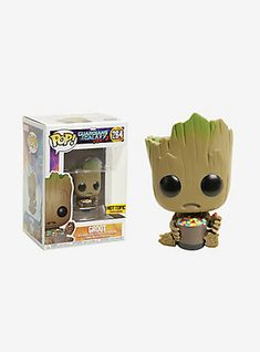 Groot from Marvel's blockbuster, Guardians of the Galaxy Vol. 2 , is given a fun, and funky, stylized look as an adorable collectible Pop! vinyl bobble-head from Funko - eating candy! Marvel 264 2 tall Vinyl Imported By Funko Funko Pop Dolls, Pop Figurine, Funk Pop, Disney Pop, Pop Toys, Pop Characters, Funko Pop Marvel, Pop Vinyl Figures, Funko Pop Vinyl