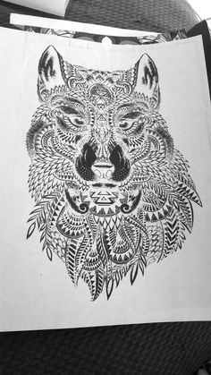 Wolf Mandala Coloring Book