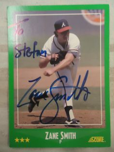 1988 Score #410 Zane Smith (TTM) Personalized to me
