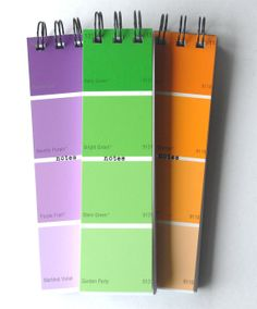 PAINTCHIP Skinny Notepads SET of 3 in assorted by CampfireDesigns, $6.00