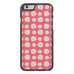Pink volleyballs pattern carved® maple iPhone 6 case