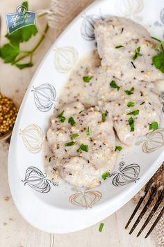 Kotlety wieprzowe w sosie musztardowym Risotto, Ethnic Recipes, Food, Essen, Meals, Yemek, Eten