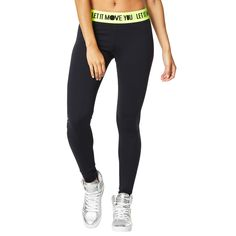 Move your body to the beat with the Let It Move You Long Leggings! These leggings slim and shape with compression supplex fabric and a jacquard elastic band designed for a   perfect fit.   PRODUCT FEATURES:  • 2 inch branded jacquard elastic  • Compression supplex fabric  • Slim fit  • Long length   WHY YOU'LL LOVE IT: • 87% Nylon  • 13% Spandex  • Z-Dri™: Stay fly-n-dry with this high-performance wicking material. This fabric wicks away the sweat as you move and keeps you cool. • Supplex...