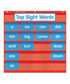 Loving this Word Wall Pocket Chart on #zulily! #zulilyfinds