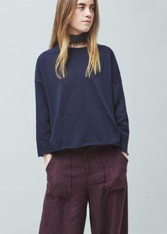 Cotton sweatshirt - Sweatshirts for Woman | MANGO United Kingdom