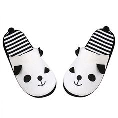 New Arrival Panda Slippers Women Indoor Winter. 2016 New Arrival Slippers Women Indoor Winter Cotton Lovely Cartoon Panda Home Floor Soft Stripe Slippers Female Shoes Feature: Brand new and high quality Pattern:Solid Decoration:Panda Gender:Women Striped Slippers, Soft Slippers, Slippers For Girls, Womens Slippers, Funny Slippers, White Slippers, Yoga Shoes, Women's Shoes, Style Marin