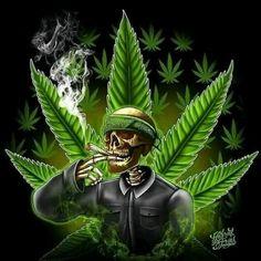 Weed Wallpaper, Skull Wallpaper, Weed Pictures, Skull Pictures, Hahn Tattoo, Sugar Skull Art, Deadpool Wallpaper, Weed Humor
