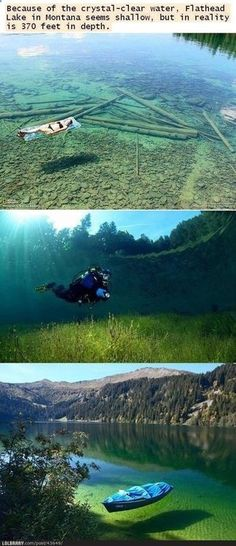 Flathead Lake, Montana. Could someone explain the point of scuba diving here where you can see the bottom of the water from your boat?