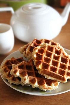 Gluten-free and lactose-free Liège waffles recipe - - Sans Gluten Ni Lactose, Foods With Gluten, Lactose Free, Vegan Gluten Free, Vegan Sandwich Recipes, Breakfast Sandwich Recipes, Waffle Recipes, Vegan Breakfast, Brunch Recipes