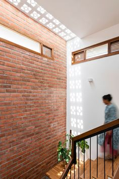White walls and exposed brick highlight this Bangalore home's design | Architectural Digest India Courtyard House, Facade House, Chettinad House, Brick House Designs, Small Room Design Bedroom, Brick Pathway, Indian Home Design, Brick Architecture, Brick Patterns