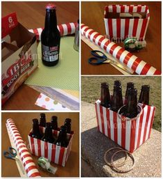 cardboard carnival DIY | DIY Carnival Games for Kids Pop bottles in cardboard case, decorated, use plastic bracelets for rings. Brilliant!.