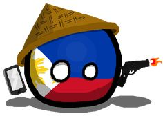 Philippinesball, officially known as the Republic of the Philippines is a sovereign archipelagic countryball in Southeast Asia in the western Pacific Ocean. He is currently the chairman of Aseanball and later passed it on Tringapore as the new chairman. To his north across Luzon Strait lies Taiwanball; West across the (South China Sea) or West Philippine Sea sits Vietnamball. The Sulu Sea to the southwest lies between the country and the island of Borneo, and to the south the Celebes Sea... Philippines Country, Pictures Of Flags, Filipino Funny, History Memes, Country Art, Borneo, Animation Film, Beautiful Islands, Funny Comics