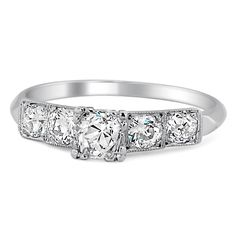 14K White Gold The Zia Ring from Brilliant Earth