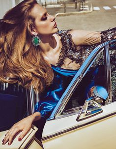 "Odette Pavlova in ""Driving Miss Odette"" by Luigi and Iango for Vogue Japan September 2016"