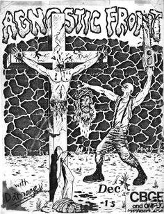 Agnostic Front punk hardcore flyer