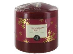 "3"" Cranberry Spice Christmas Pillar Candle"