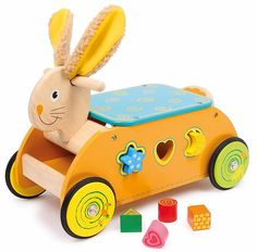 Legler Dexterity Cart Rabbit Preschool Learning Toys for sale online Top Toys For Boys, Toys For Tots, Preschool Learning Toys, Wooden Cart, Traditional Toys, Kids Wood, Baby Kind, Wood Toys, Toy Sale