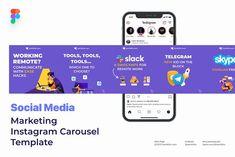 Social Media Template, Social Media Design, Facebook Carousel Ads, Web Design, Carousel Designs, Instagram Design, Social Media Marketing, Porsche, Instagram Templates