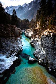 Soča River Gorge Slovenia,By Iryna
