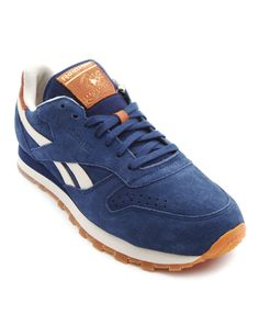 c4f3480c884 Classic Blue Leather Sneakers - REEBOK Leather Sneakers