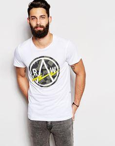 G-Star T-Shirt Bauchan Circle Logo Print