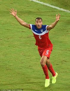 Recent 21 year old Brooks scores his first goal for USA, such a great moment for him. Lucky game for USA, great play Ghana USA 2:1 Ghana World Cup 2014