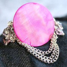 #WhosMaru on Artfire      #ring                     #Lady #GOTH #Ring #Pink #Pink #Swarovski #Crystals #WhosMaru #Jewelry #ArtFire                          Lady GOTH Ga Cha Cha Ring w Hot Pink MOP & Lt Pink Swarovski Crystals | WhosMaru - Jewelry on ArtFire                             http://www.seapai.com/product.aspx?PID=1119292