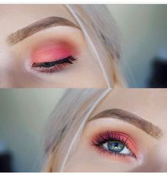 Peach palette inspo (used colourpop eyeshadows) by @lucemacdonald