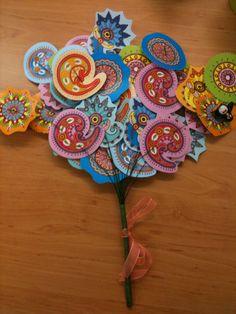 Super afscheidscadeau. Op elke bloem staat achterop een persoonlijk bericht.