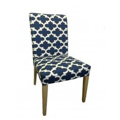 IKEA HENRIKSDAL Dining Chair Cover Casbah Ikat Blue by ...