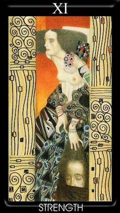 VIII. Strength: Klimt Tarot
