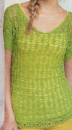 A sárga és zöld színösszeállítás egyik kedvencem, különböző színű toppokkal még kombinálhatjuk Crochet Top, Women, Shoes, Decor, Fashion, Summer Time, Tejidos, Clothing, Moda