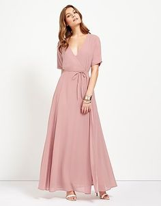Womens dusty pink glamarous tie waist v-neck dress from Lipsy - at… Bridesmaid Dresses, Wedding Dresses, Summer Colors, Lipsy, Next Uk, Pink Fashion, V Neck Dress, Dusty Pink, Uk Online