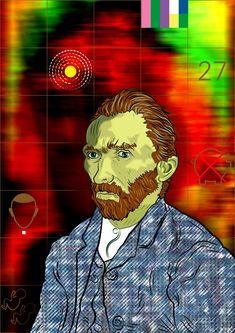#vectorart #digitalart #adobesuite #vangogh #vincent #computerart #facts Digital Portrait, Digital Art, Computer Art, Van Gogh, Vector Art, Facts, Fictional Characters, Fantasy Characters