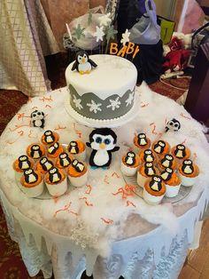 Penguin baby shower #babyshower #winter #snowflakes #penguins                                                                                                                                                                                 More