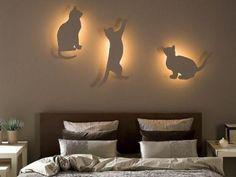Оригинальная композиция 3-х бра в виде котов или светильники своими руками