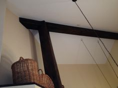 ceiling ideas: faux wood beams