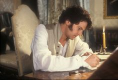 """Mr. Darcy (Colin Firth) writing """"the letter"""" to Elizabeth Bennet (Jennifer Ehle) in Pride and Prejudice (1995). An email just wouldn't have had the same impact."""