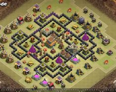 These Anti 1 Stars and 2 Star Town Hall 8 Layout Designs are really good at defending any. Clash Of Clans Game, Layout Design, Geek Stuff, War, Town Hall, Anime, Indian Actresses, Geek Things, Cartoon Movies