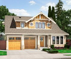 The best Craftsman house floor plans. Find 1 story Craftsman cottage style designs, modern Craftsman homes w/photos & more! Bungalow Floor Plans, Modern Floor Plans, Craftsman Style House Plans, Craftsman Exterior, Craftsman Houses, Exterior Paint, House Plans One Story, Family House Plans, Best House Plans