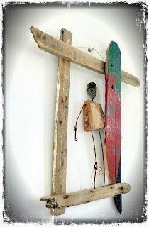 http://mutozinc.blogspot.fr/ surf art, driftwood and upcycling
