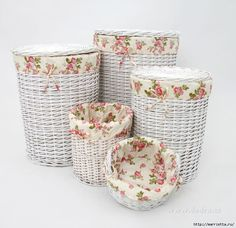 Paper wicker baskets