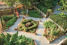 Pretty kitchen gardens can be just as inviting as an English rose garden with a little thought and planning. The natural bonus: you can serve guests meals made with fresh ingredients that are as local as they come.  Creating a pretty vegetable garden 	Southern Gardening Guide to growing fruits and vegetables 	Growing herbs in containers