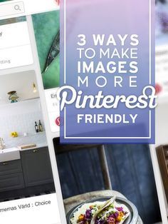 A pin of how to make images more Pinterest-friendly! How meta!  Super helpful tips.