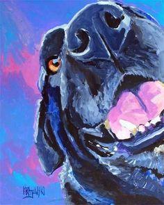 Labrador Retriever Art Print of Original Acrylic by dogartstudio
