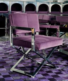 Purple Directors Chair, Luxe Italian Designer Furniture & Interiors, So Beautiful, Sharing Luxury Hollywood Lifestyle Home Decor Inspirations & Gift Ideas Courtesy Of InStyle-Decor.com Beverly Hills Enjoy & Happy