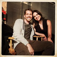 Sean & Lana on set #OutlawQueen <3